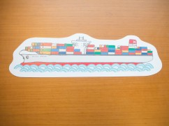 オリジナル製作・ながーいコンテナ船ポストカード