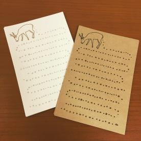 オリジナル製作・鹿の一筆箋