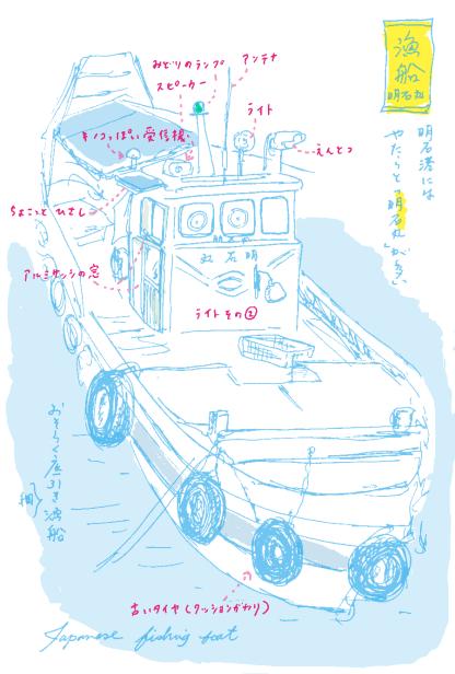 漁船のスケッチ
